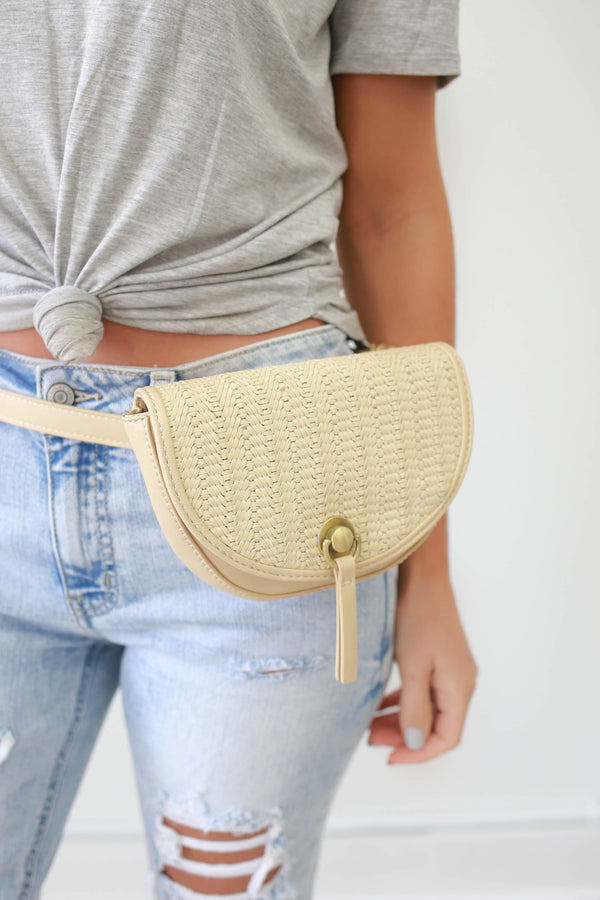 Faux Leather Belt Bag - Online Clothing Boutique