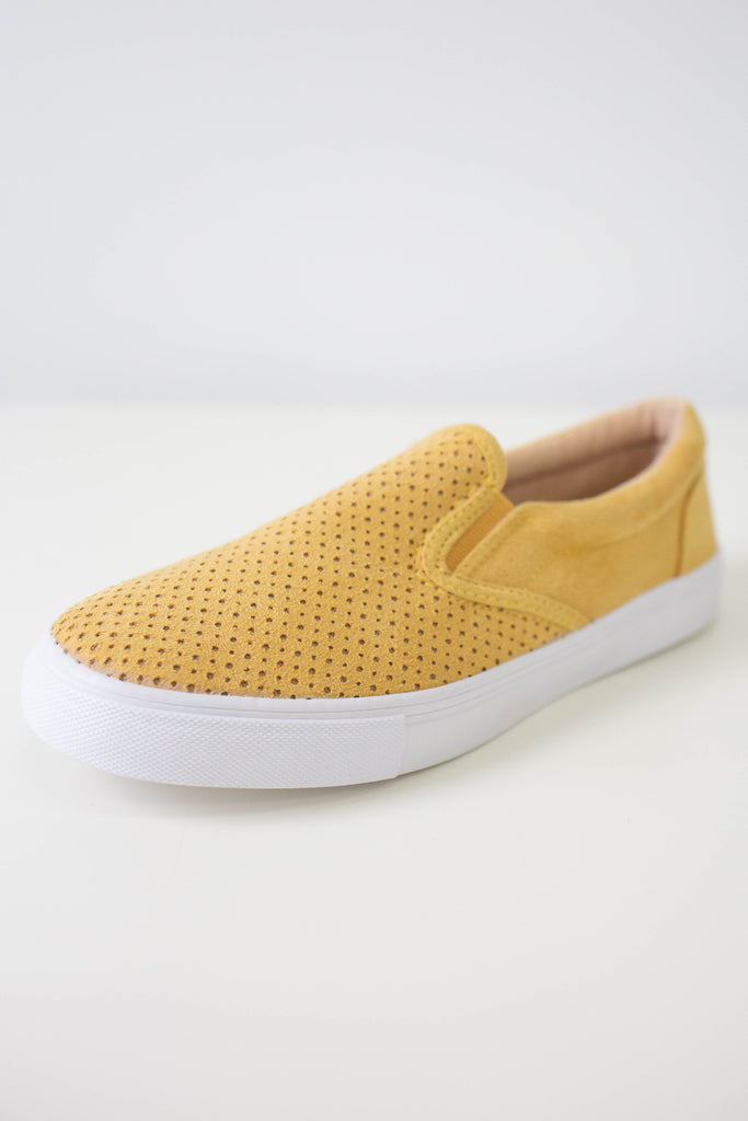 Faux Suede Sneakers - Online Clothing Boutique