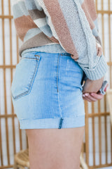 High Rise Button Front Denim Shorts | Stylish & Affordable | UOI Online