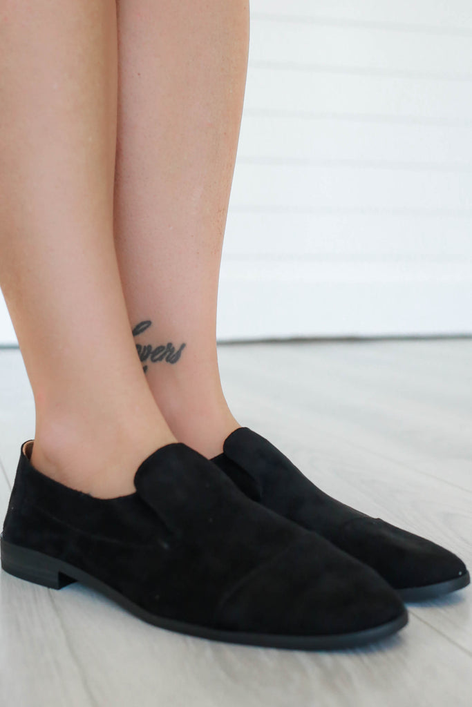 Faux Suede Loafers - Online Clothing Boutique