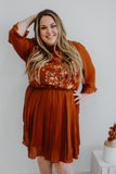 Embroidered Mock Neck Plus Size Midi Dress | Stylish & Affordable | UOI Online