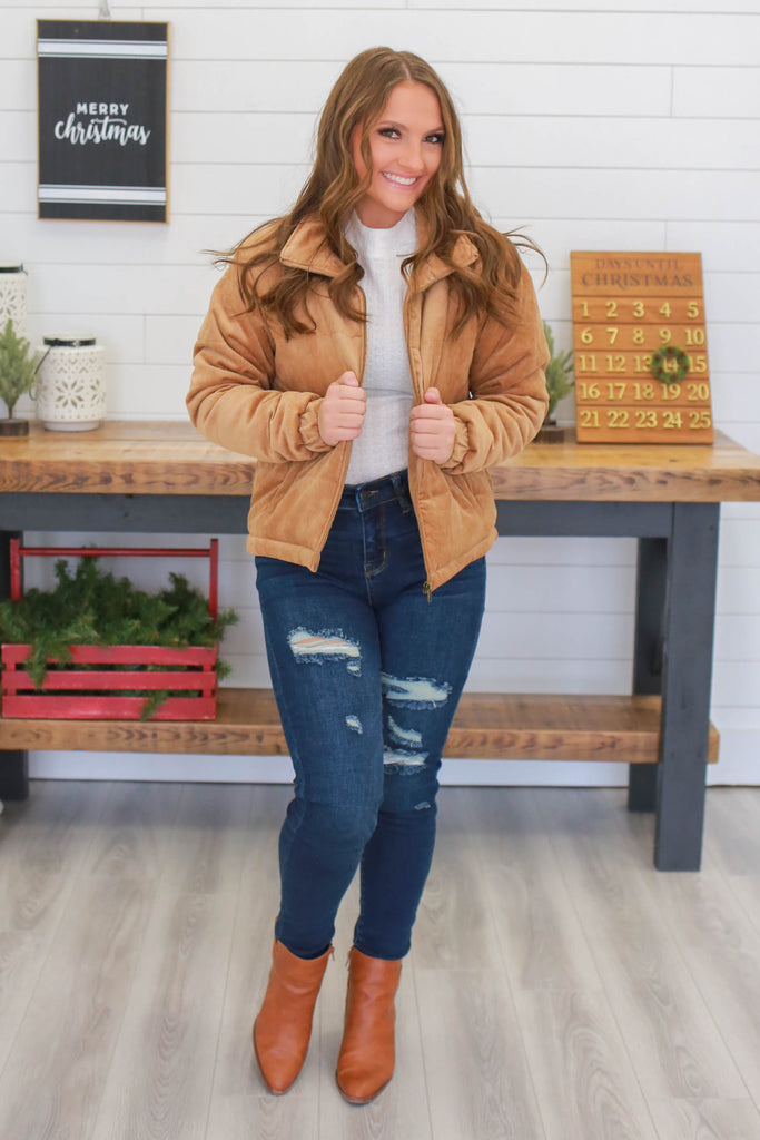 Corduroy Puffer Jacket | Stylish & Affordable | UOI Online
