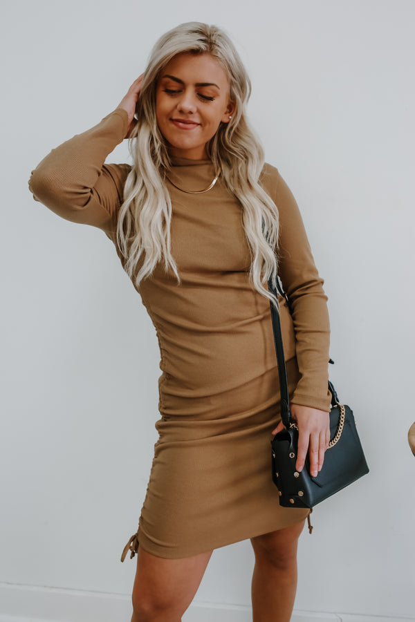 Long Sleeve Boat Neck Bodycon Mini Dress | Stylish & Affordable | UOI Online