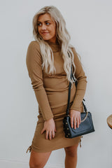 Falling For Me Dress - Toffee