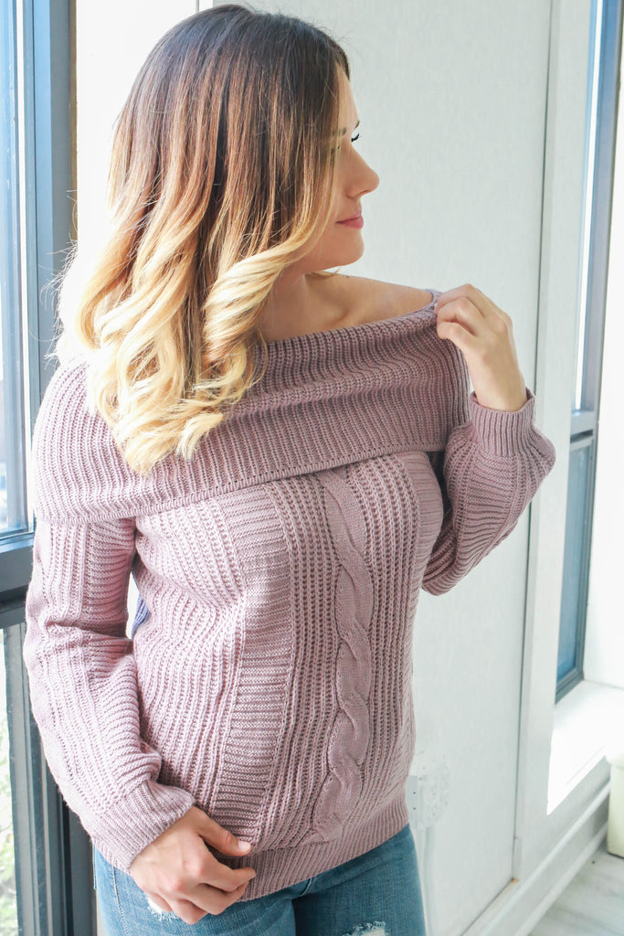 Off The Shoulder Sweater - Online Clothing Boutique