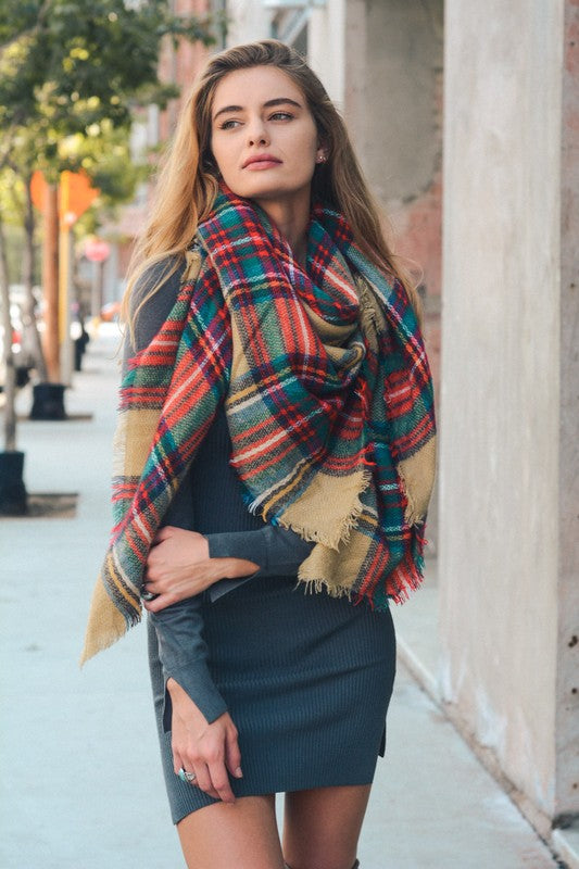 Plaid Blanket Scarf | Stylish & Affordable | UOI Online