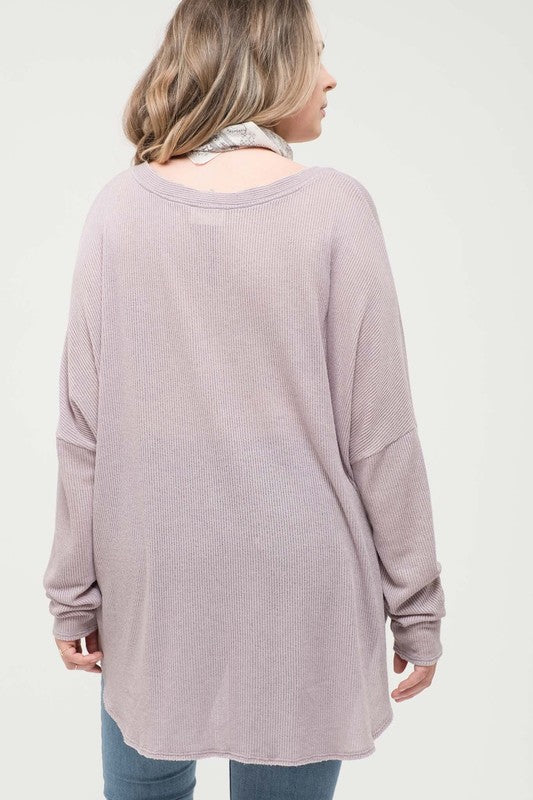 Plus Size Button Front Knit Top - Online Clothing Boutique