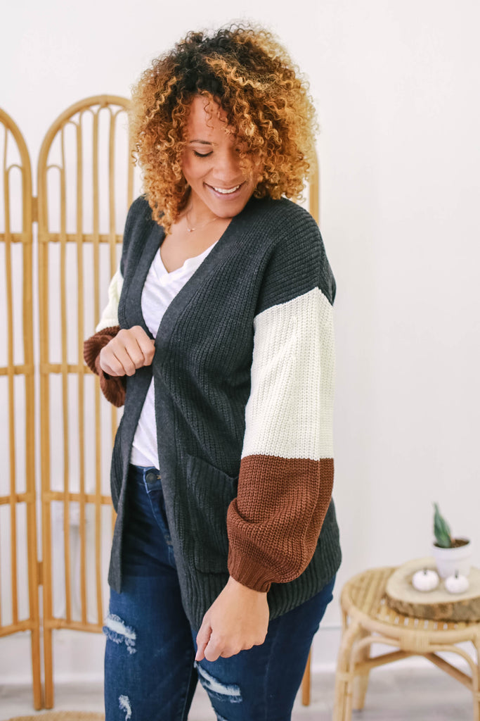 Color Block Cardigan | Stylish & Affordable | UOI Online