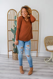 Long Sleeve V-Neck Top | Stylish & Affordable | UOI Online