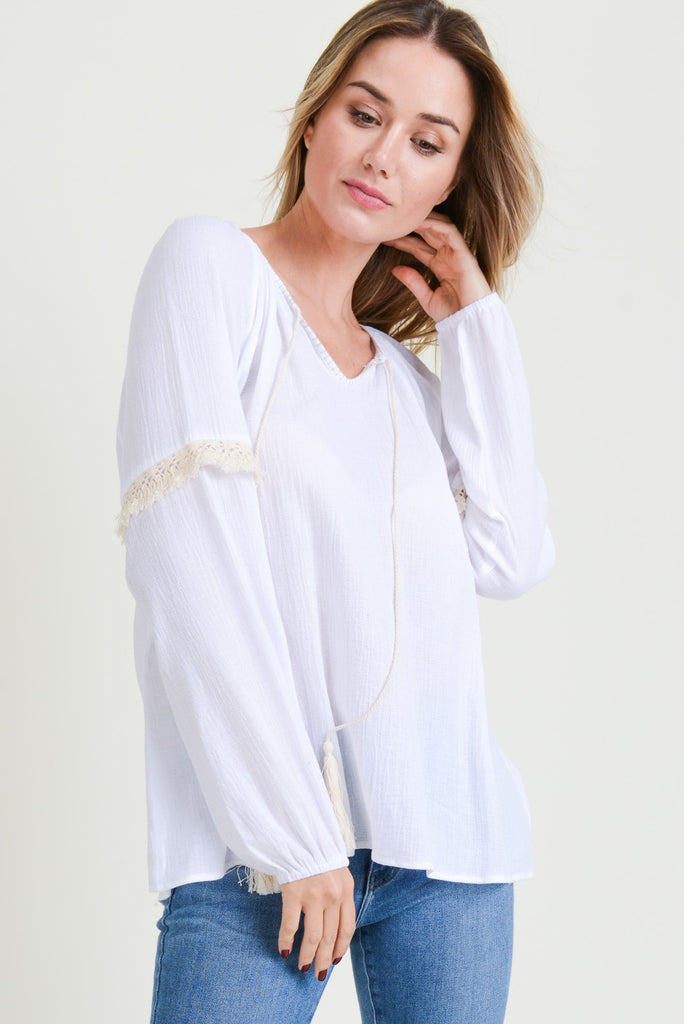 Flowy Crochet Top - Online Clothing Boutique