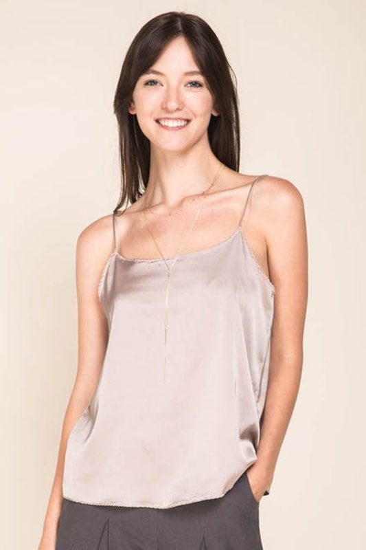 Satin Cami Tank Top - Online Clothing Boutique
