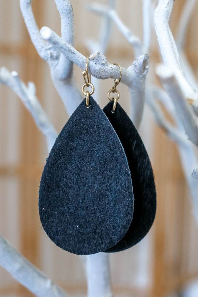 Faux Fur Teardrop Pendant Earrings | Stylish & Affordable | UOI Online