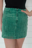 High Waisted Corduroy Mini Skirt - Online Clothing Boutique