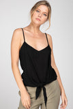 Self Tie Front Knot Tank Top - Online Clothing Boutique