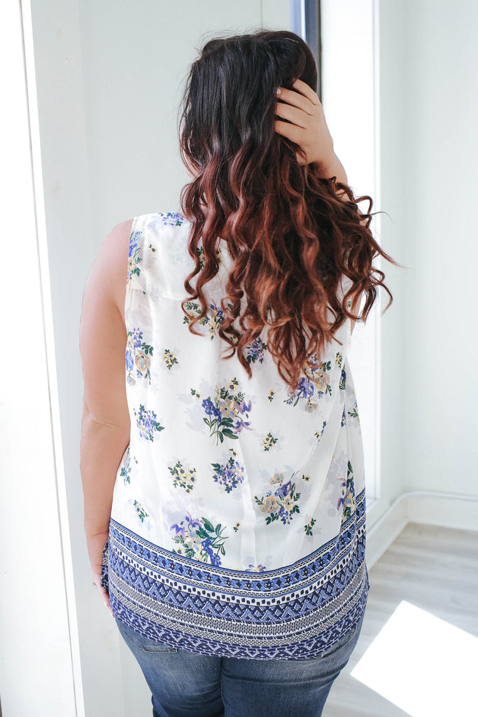 Plus Size Floral Tank Top - Online Clothing Boutique