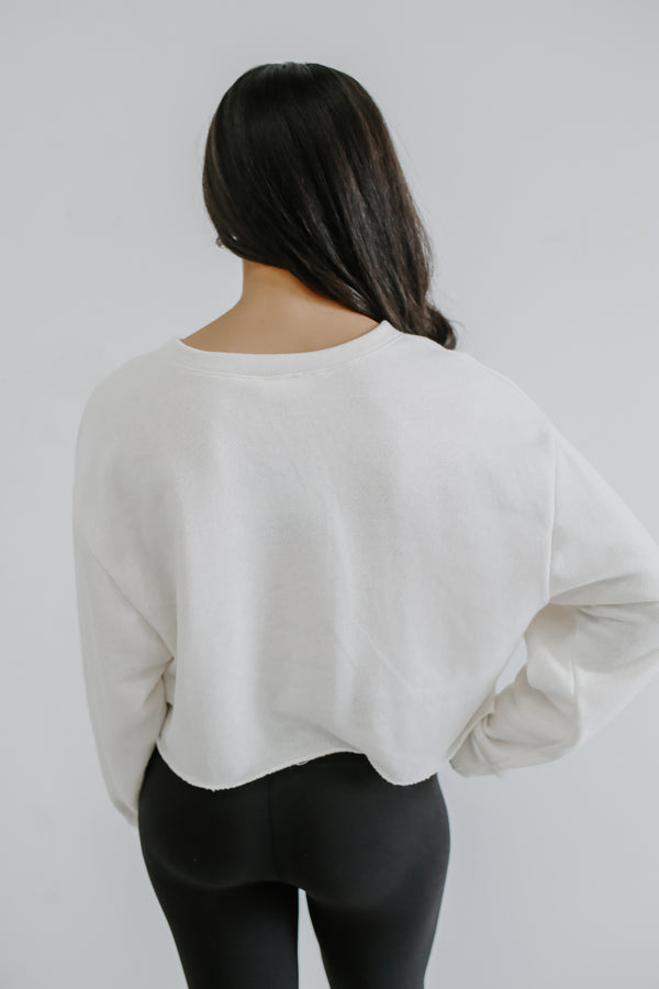 Long Sleeve Cropped Graphic Top | Stylish & Affordable | UOI Online