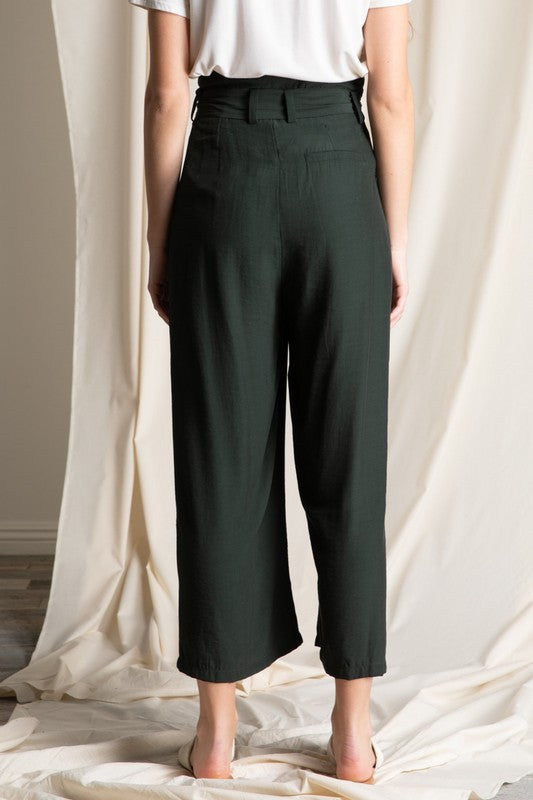 Wide Leg Cropped Pants - Online Clothing Boutique
