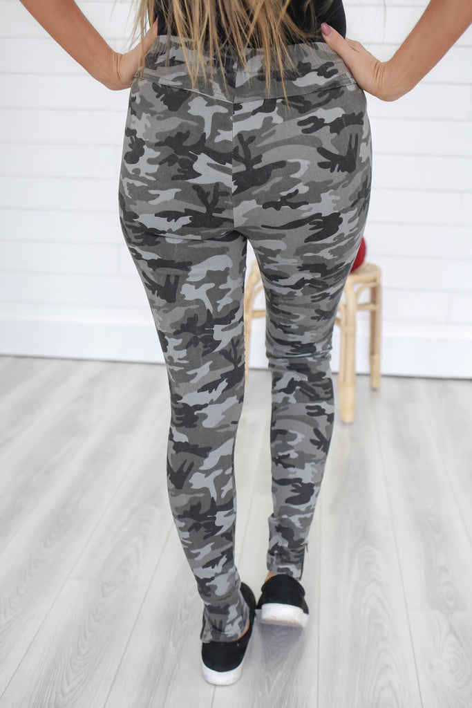 Camouflage Moto Leggings - Online Clothing Boutique