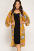 Plus Size Floral Kimono - Online Clothing Boutique