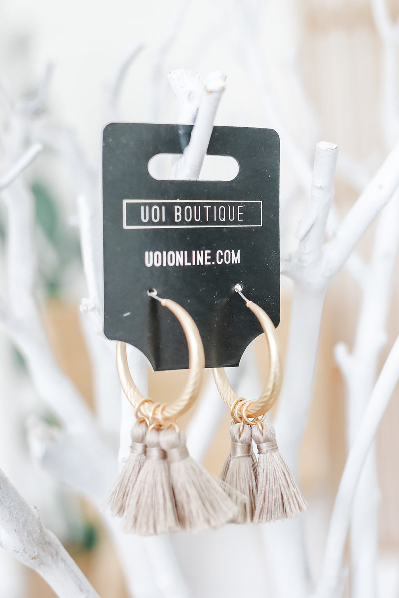 Tassel Hoop Earrings | Stylish & Affordable | UOI Online