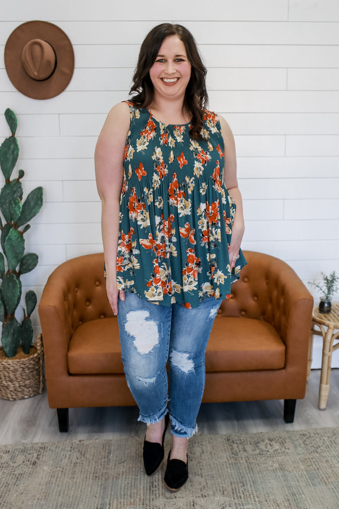 Plus Size Floral Tank | Stylish & Affordable | UOI Online
