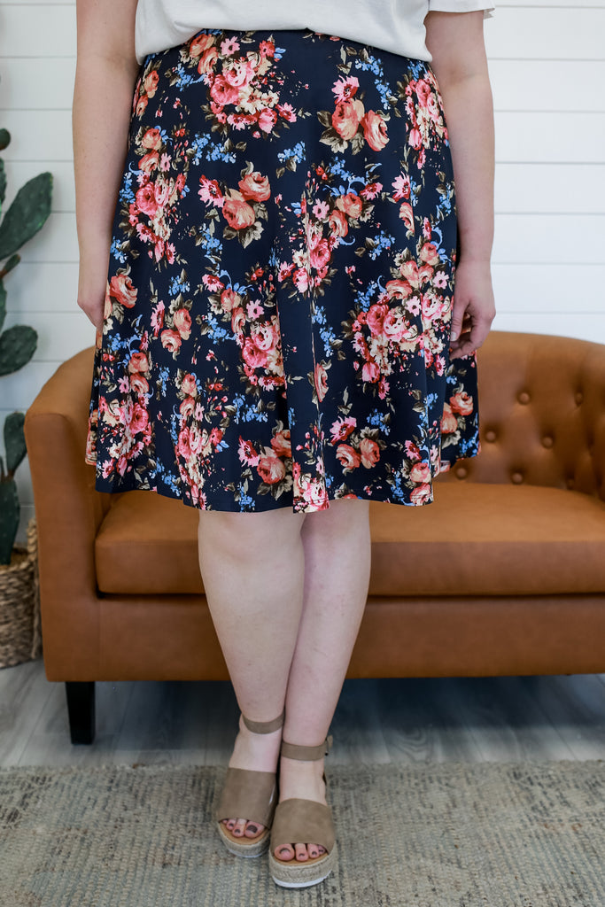 Plus Size Floral Skirt | Stylish & Affordable | UOI Online