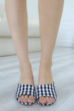 KATZ-35 Gingham Mule Heels - Online Clothing Boutique