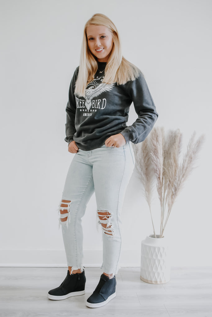 Vintage Washed Graphic Sweatshirt | Stylish & Affordable | UOI Online