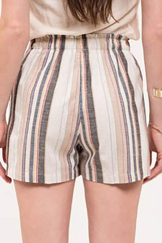 Striped Cotton Shorts - Online Clothing Boutique
