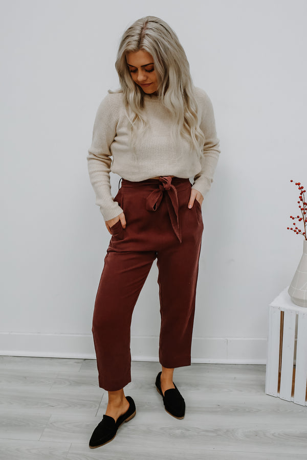 High Rise Cropped Pants | Stylish & Affordable | UOI Online