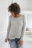 Knotted Front Top - Online Clothing Boutique