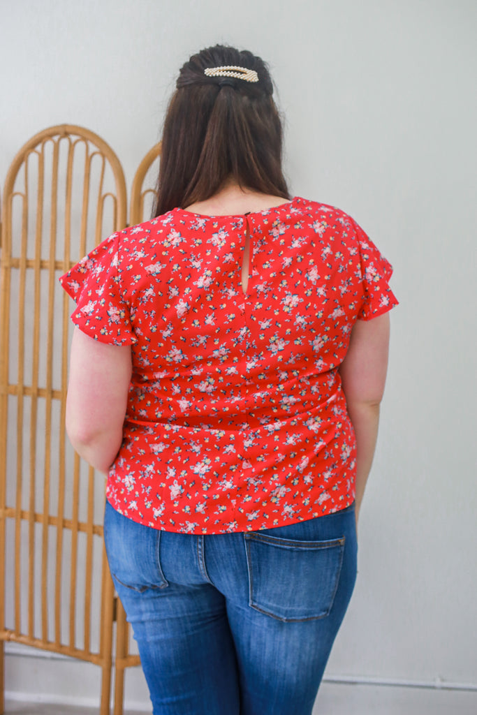 Full Bloom Top + Raspberry