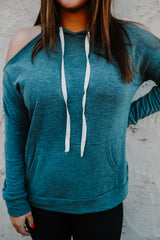 Shoulder Cut Out Hooded Sweatshirt | Stylish & Affordable | UOI Online
