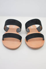 Faux Suede Sandals - Online Clothing Boutique