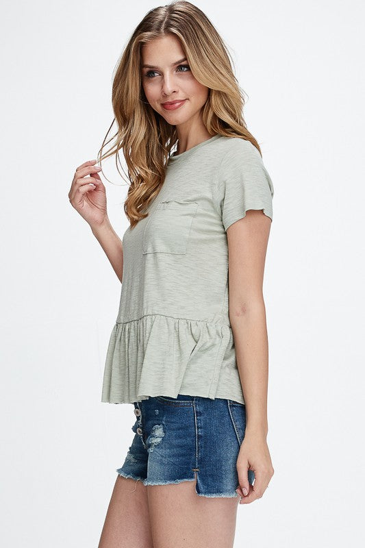 Peplum Top - Online Clothing Boutique