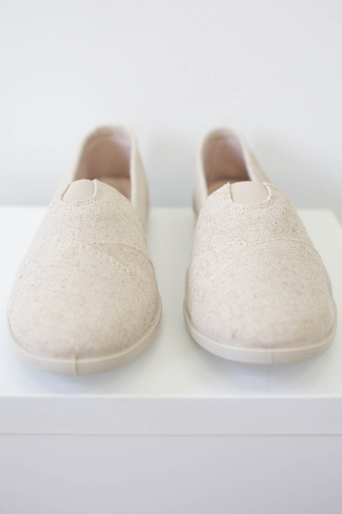 Canvas Memory Foam Flats - Online Clothing Boutique