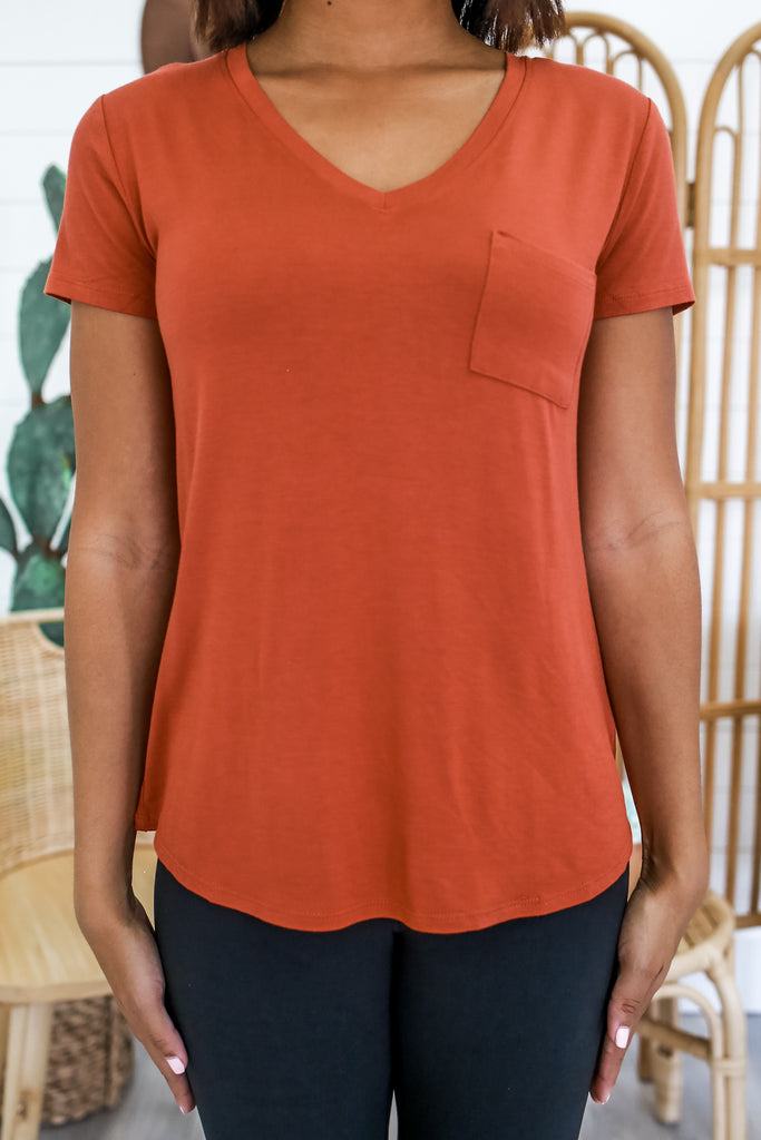 V-Neck Pocket  Tee | Stylish & Affordable | UOI Online