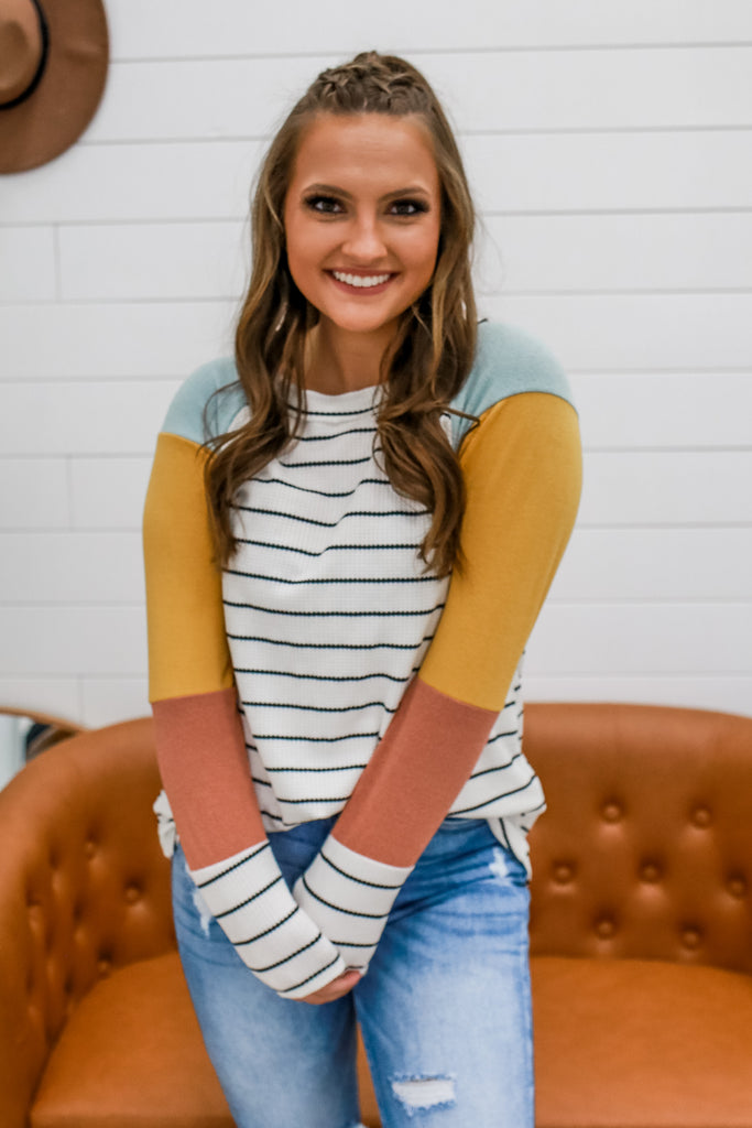 Striped Color Block Top | Stylish & Affordable | UOI Online