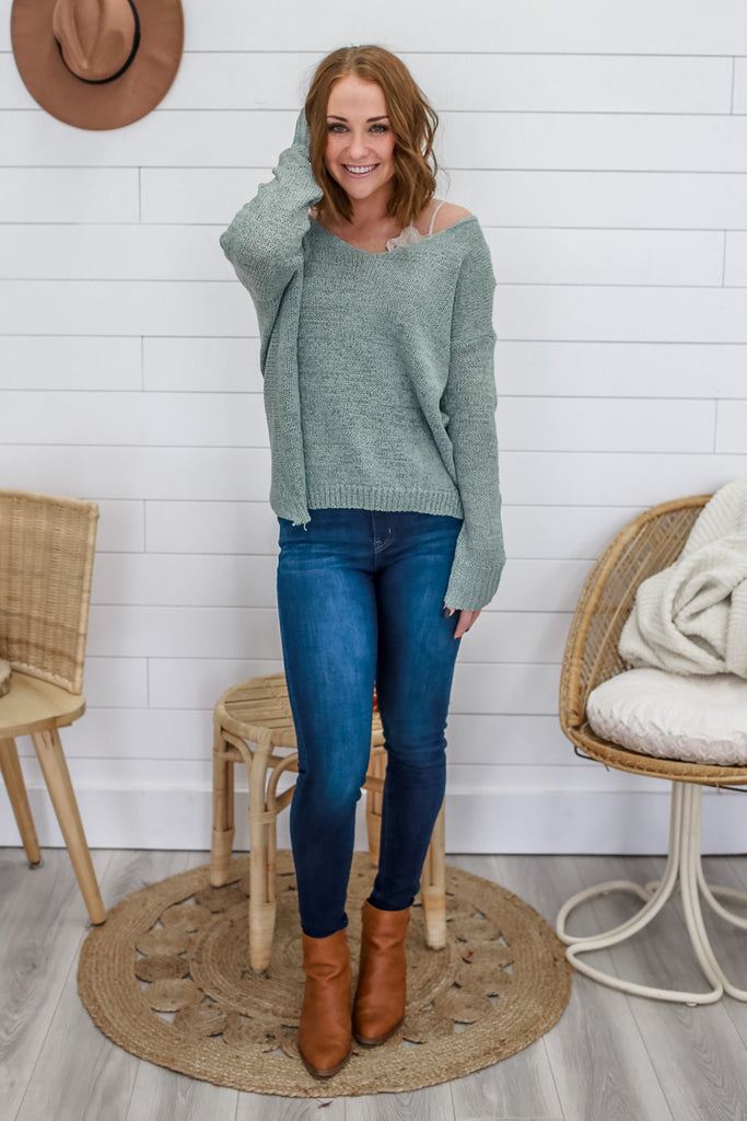 Twist Back Sweater | Stylish & Affordable | UOI Online