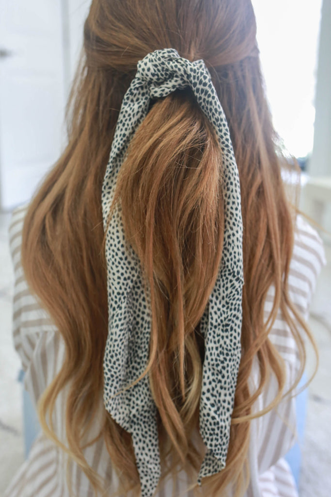 Animal Print Scrunchie Scarf - Online Clothing Boutique