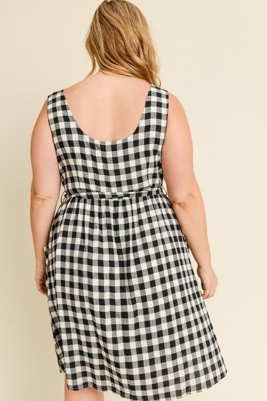 Plus Size Plaid Dress | Stylish & Affordable | UOI Online
