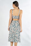 Tropical Print Midi Dress - Online Clothing Boutique