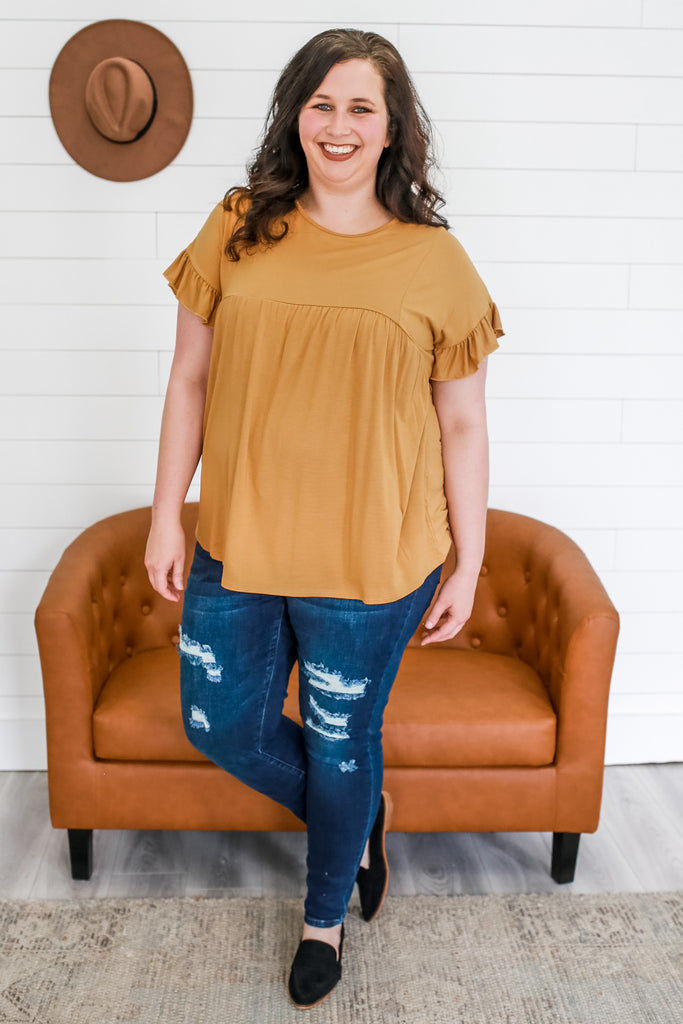 Plus Size Baby-Doll Top | Stylish & Affordable | UOI Online
