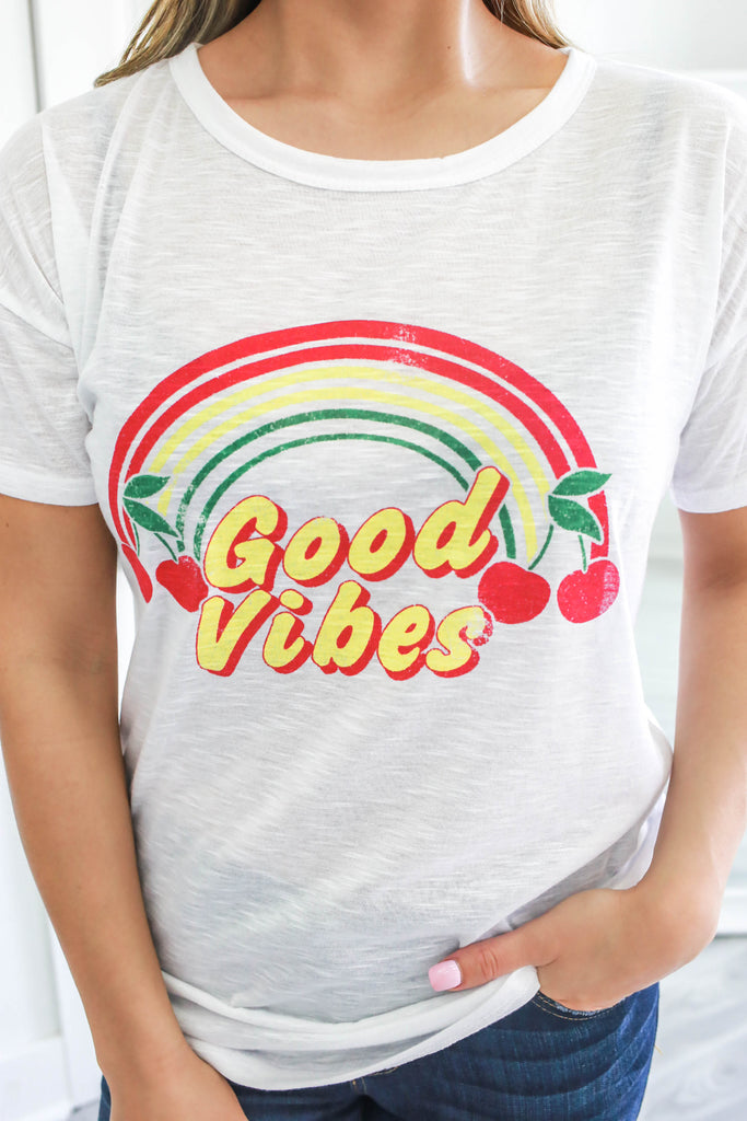 Good Vibes Graphic Tee - Online Clothing Boutique