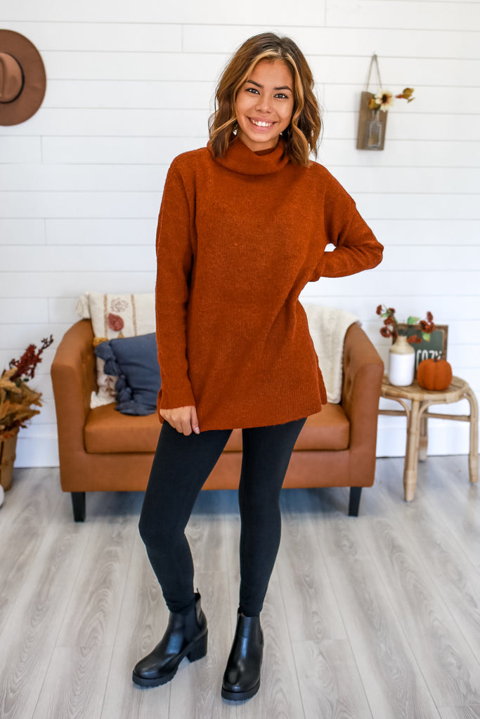 Long Sleeve Cowl Neck Sweater | Stylish & Affordable | UOI Online