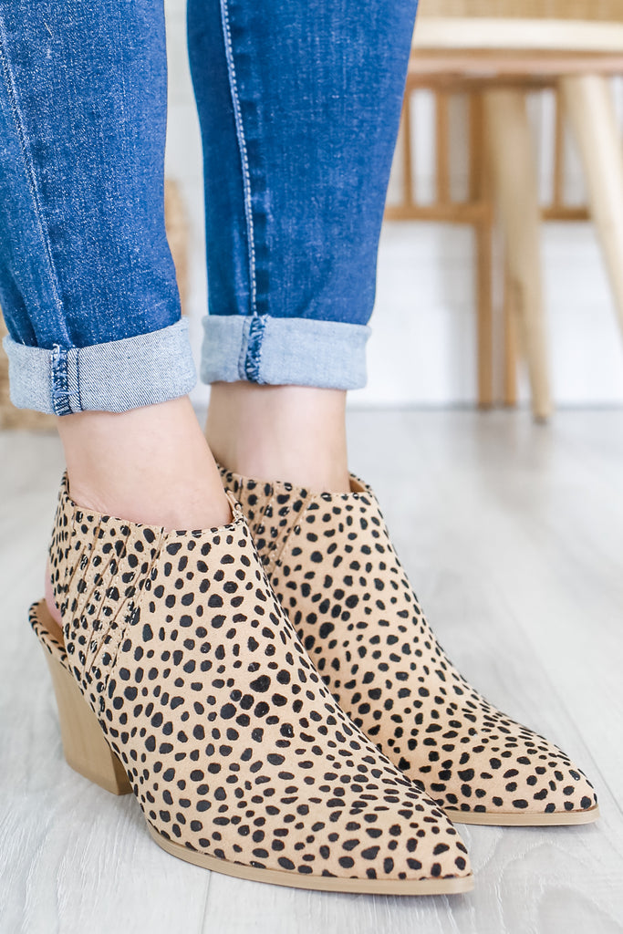 Cheetah Print Slingback Booties | Stylish & Affordable | UOI Online