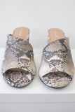 Faux Leather Snakeskin Mules - Online Clothing Boutique