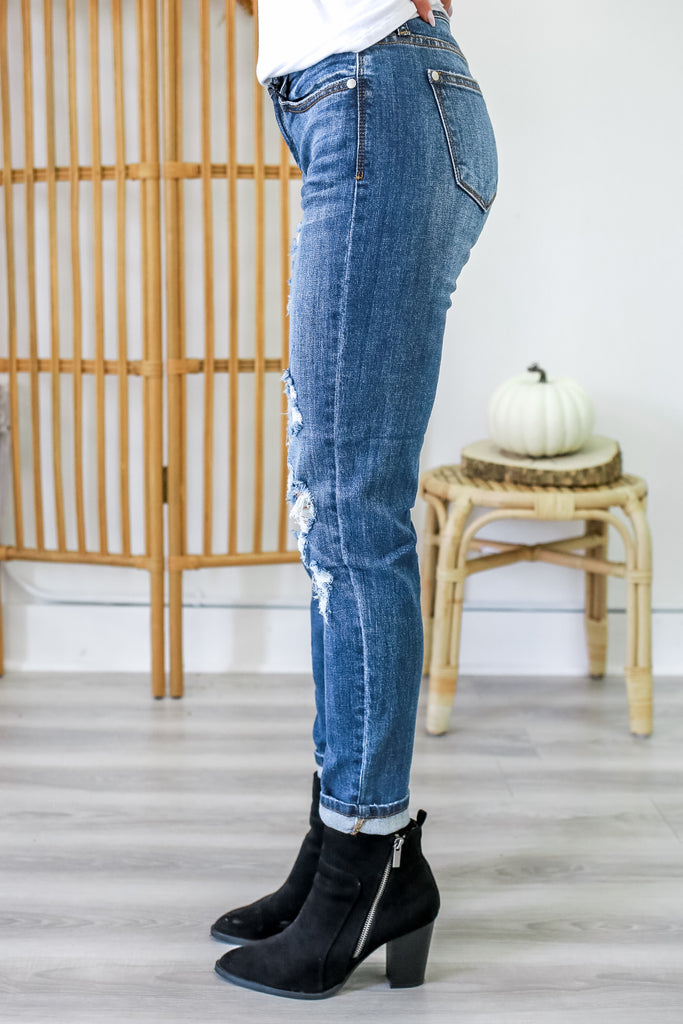 Distressed Girlfriend Denim | Stylish & Affordable | UOI Online
