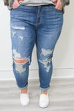 Plus Size Boyfriend Jeans - Online Clothing Boutique