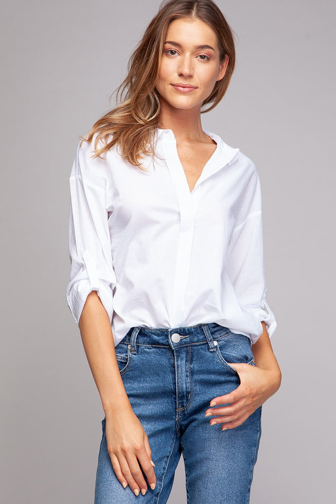 Long Sleeve Button Up Top - Online Clothing Boutique